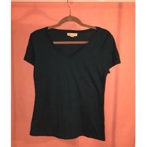 Plain teal blouse